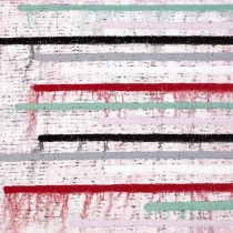 The Fold - linear (No.1122), 2011, oil on canvas (Triptych), 120 x 240 cm
