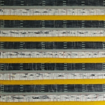 String Ogham, 2015, oil on canvas, 240 x 220 cm