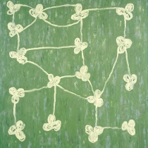 Knots, green, 1997, oil on canvas, 240 x 230 cm