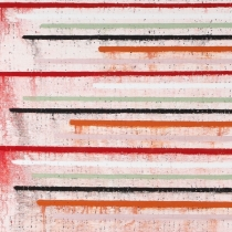 The Fold - linear (No.1140), 2011, oil on canvas (Triptych), 120 x 240 cm