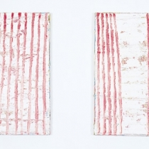 Red Lacarations, 1993, oil on canvas (Diptych), 60 x 130 cm