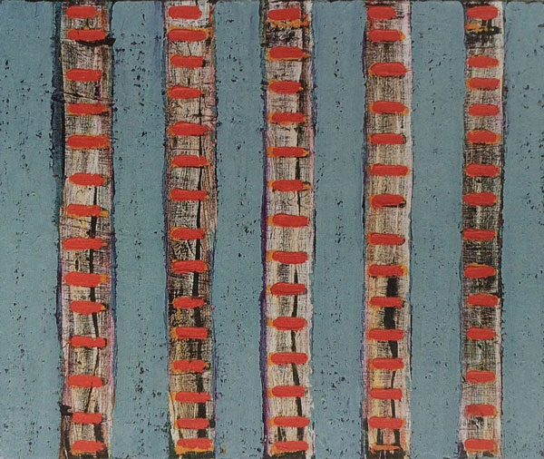 Ogham III 1999, oil on canvas, 50 x 60 cm